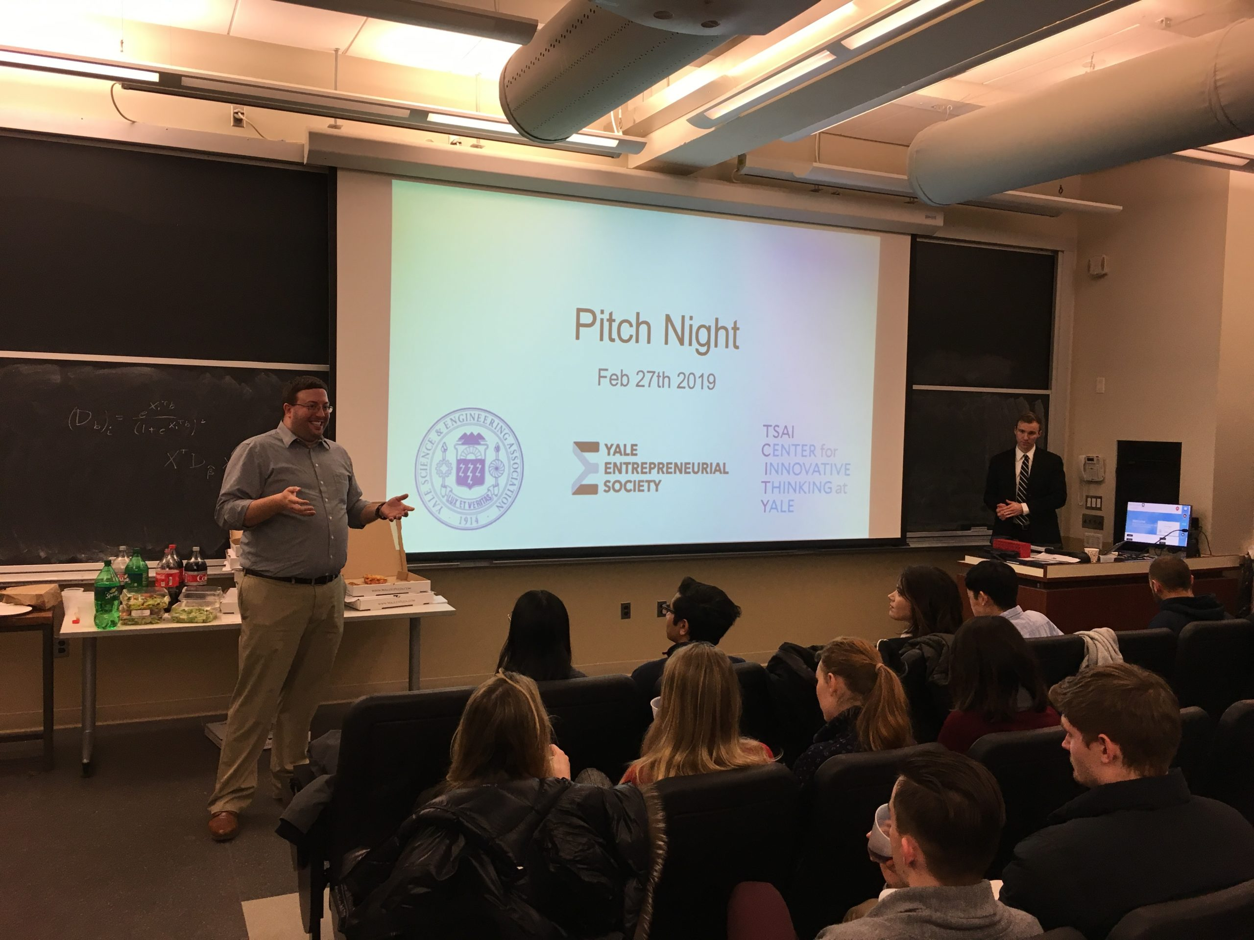 Photo from the 2019 Inaugural Pitch Night