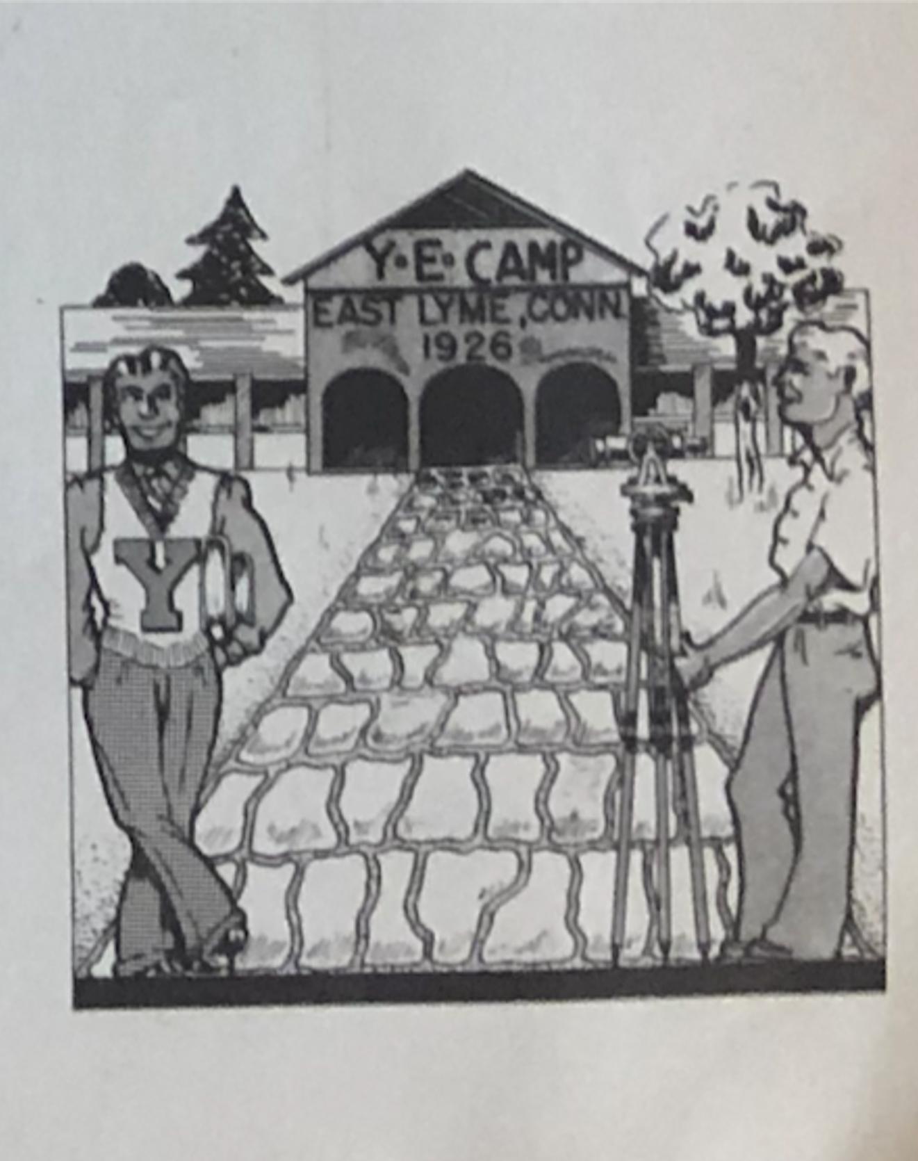 YEA cartoon displaying the East Lyme Engineering camp