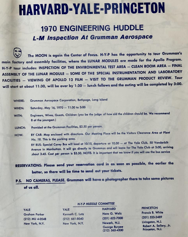 HYP Engineering Huddle invitation letter